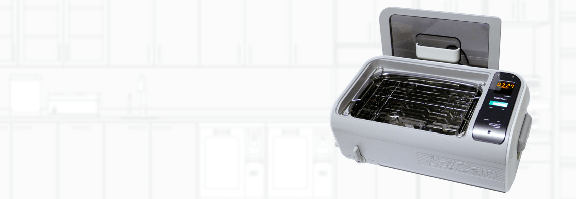 Smart Design: StatClean's 1.6 gallon tank and convenient self docking lid holds a variety of instruments in the unique hands free drying basket, making it the perfect ultrasonic to complete your reprocessing needs.