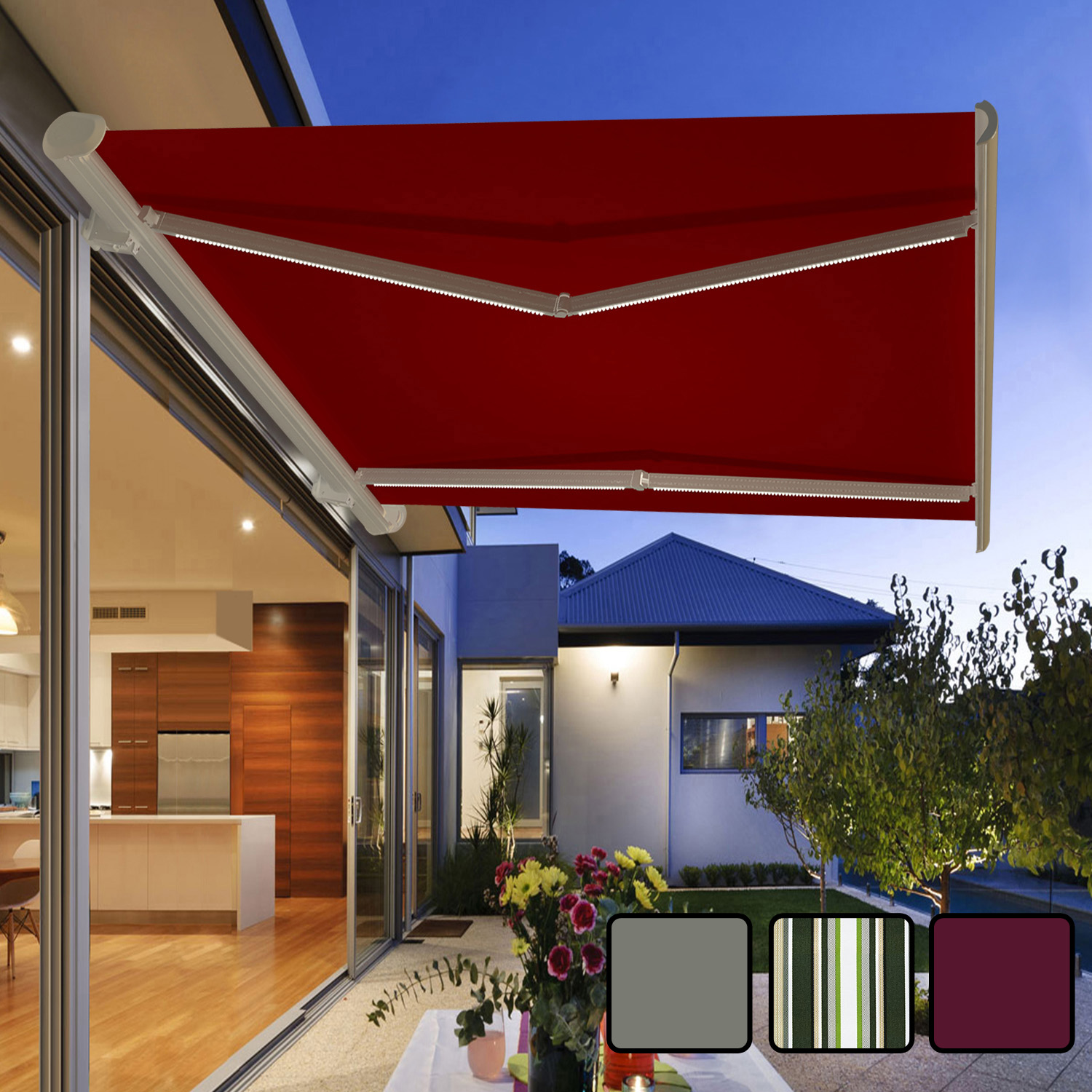 garden awning retractable canopy