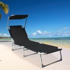 Sail Cloth Beach Chairs Tolix Marais Folding Sun Lounger Recliner Chair Shade Bed Outdoor