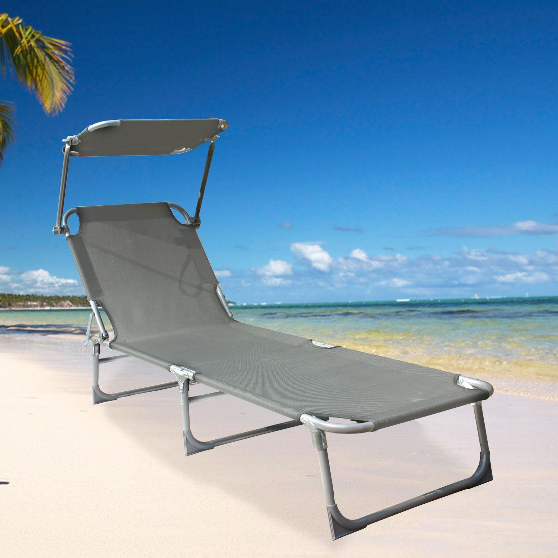 sail cloth beach chairs yellow club chair folding sun lounger recliner shade bed outdoor