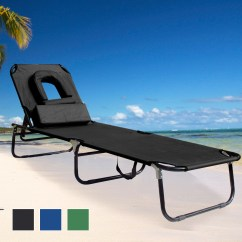 Beach Chair Pillow With Strap Ultimate Game Gaming Chairs Sun Lounger Garden Bed Recliner Pool Seat Hole
