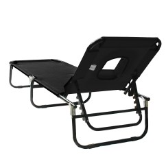 Beach Chair Pillow With Strap Folding Kijiji Sun Bed Lounger Recliner Pool Camping Seat