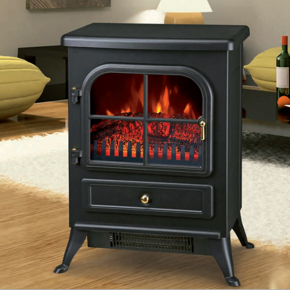 Freestanding 1850W Electric Fireplace Home Heater Fire Place Stove Flame Effect  eBay