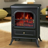 Freestanding 1850W Electric Fireplace Home Heater Fire ...