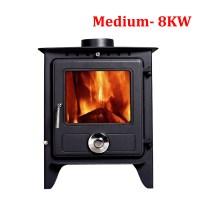 Reepham Multifuel Clean Burn Log Burning Steel Wood Burner ...