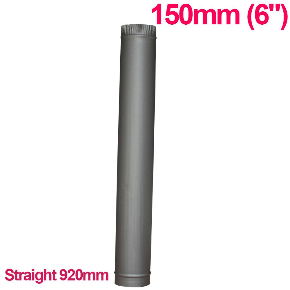 "Chimney Flue Pipe 150mm 6"" For Wood Burning Log Burner"
