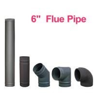 "Chimney Flue Pipe 150mm 6"" For Wood Burning Log Burner ..."