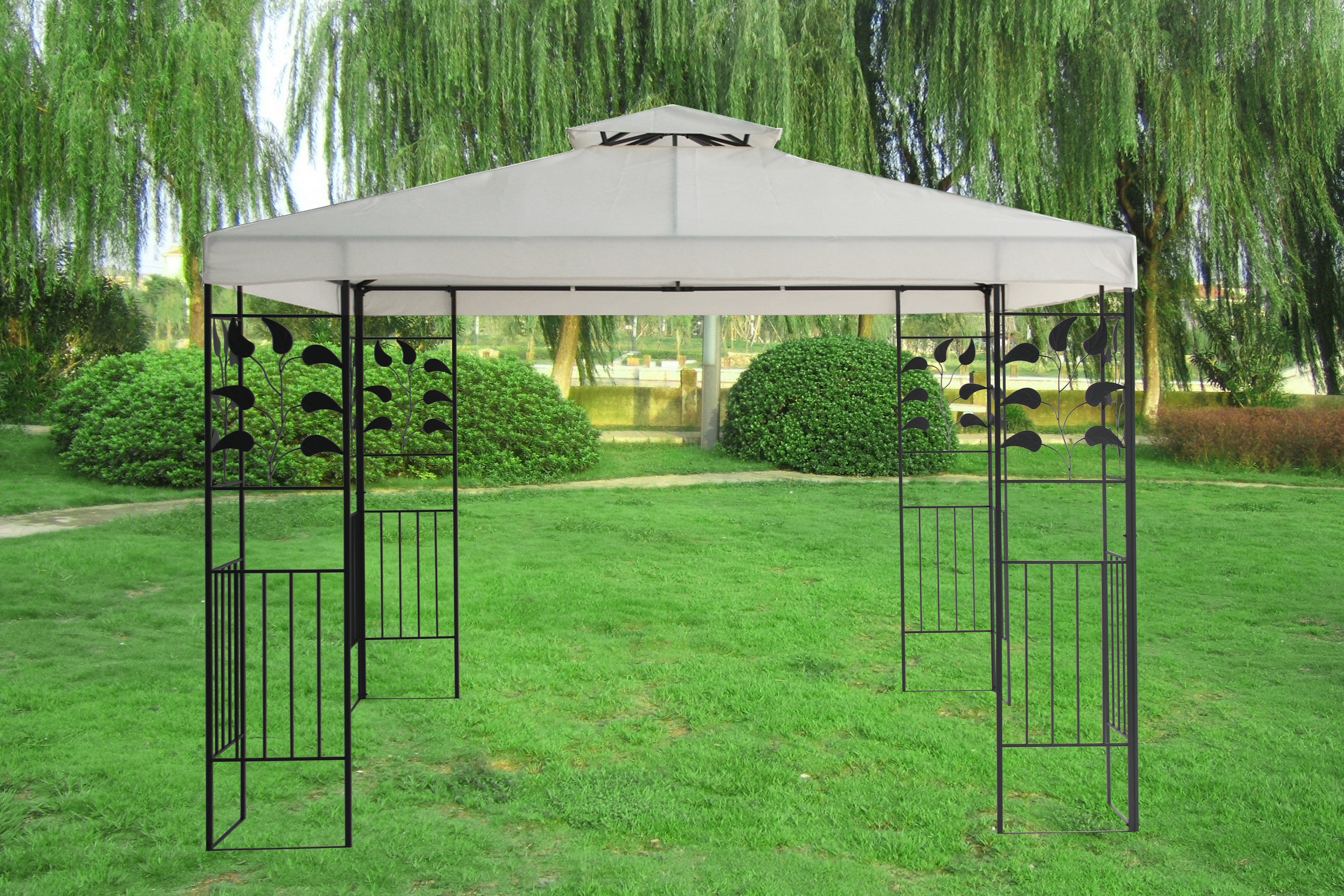 canopy camping chair graco winslet high 3x3m pavilion metal gazebo awning sun shade shelter marquee greenbay | ebay