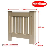 Modern Traditional Radiator Cover White Unfinished Wood ...