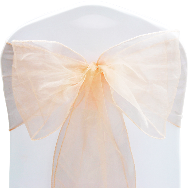 1 10 50 100 Organza Sashes Chair Cover Bow Sash WIDER