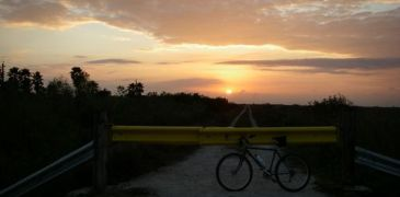 sunset and bike by oojeff