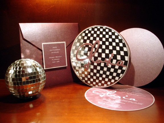 Gloria Estefan Disco Ball Invitation