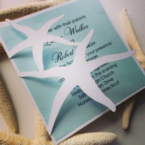 Starfish Laser Cut Invitation