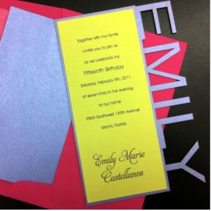 Emily Name Invitation Sq