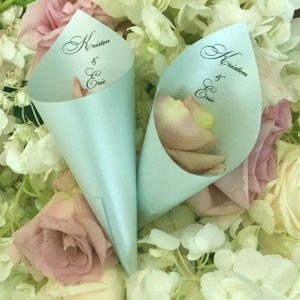Wedding Petal Cones Aquamarine 2