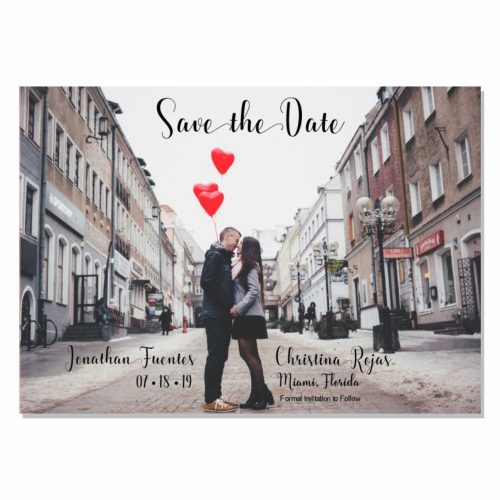 5x7 Save the Date Upload Your Photo