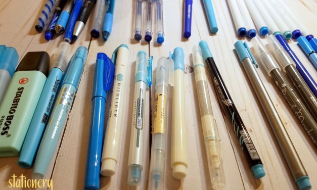 BLUE markers, pens, highlighters