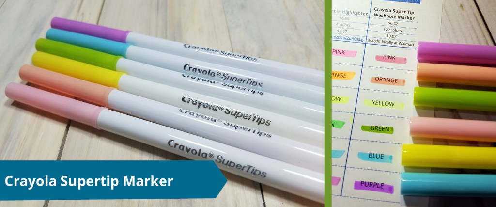 Crayola Super Tip Marker as highlighter