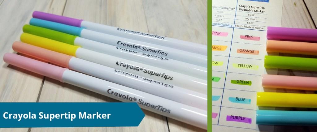 Crayola Super Tip Marker as highlighter