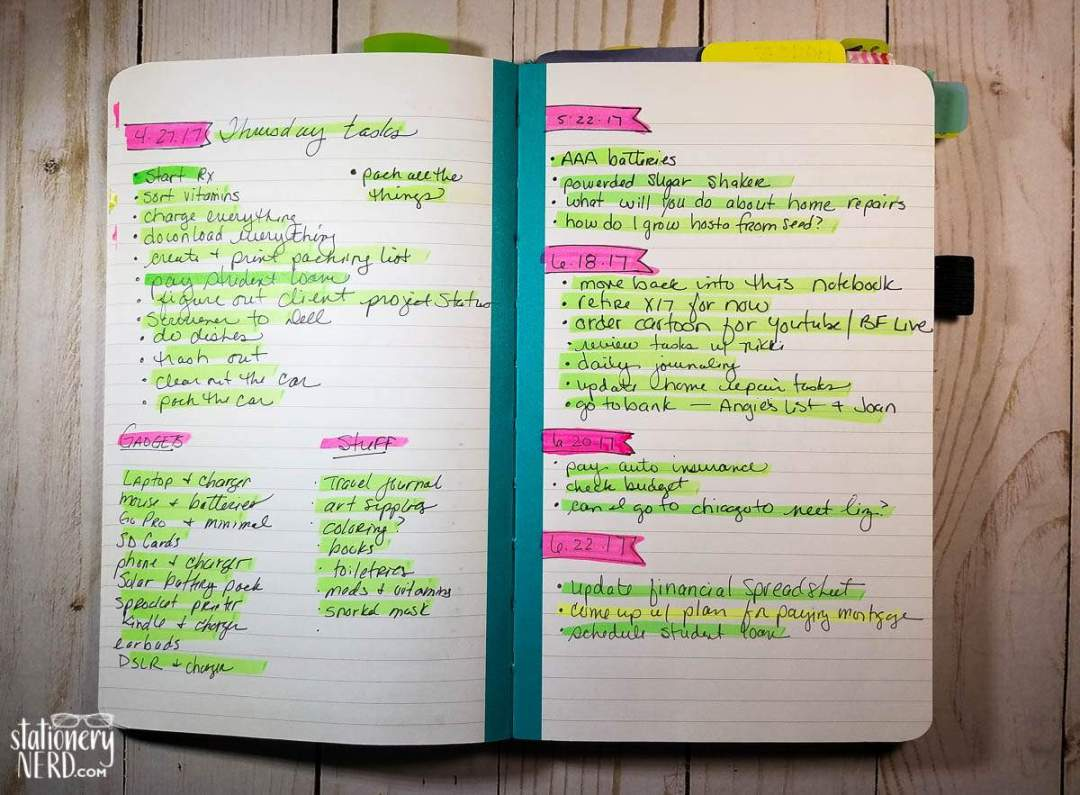 rapid logging in my bullet journal