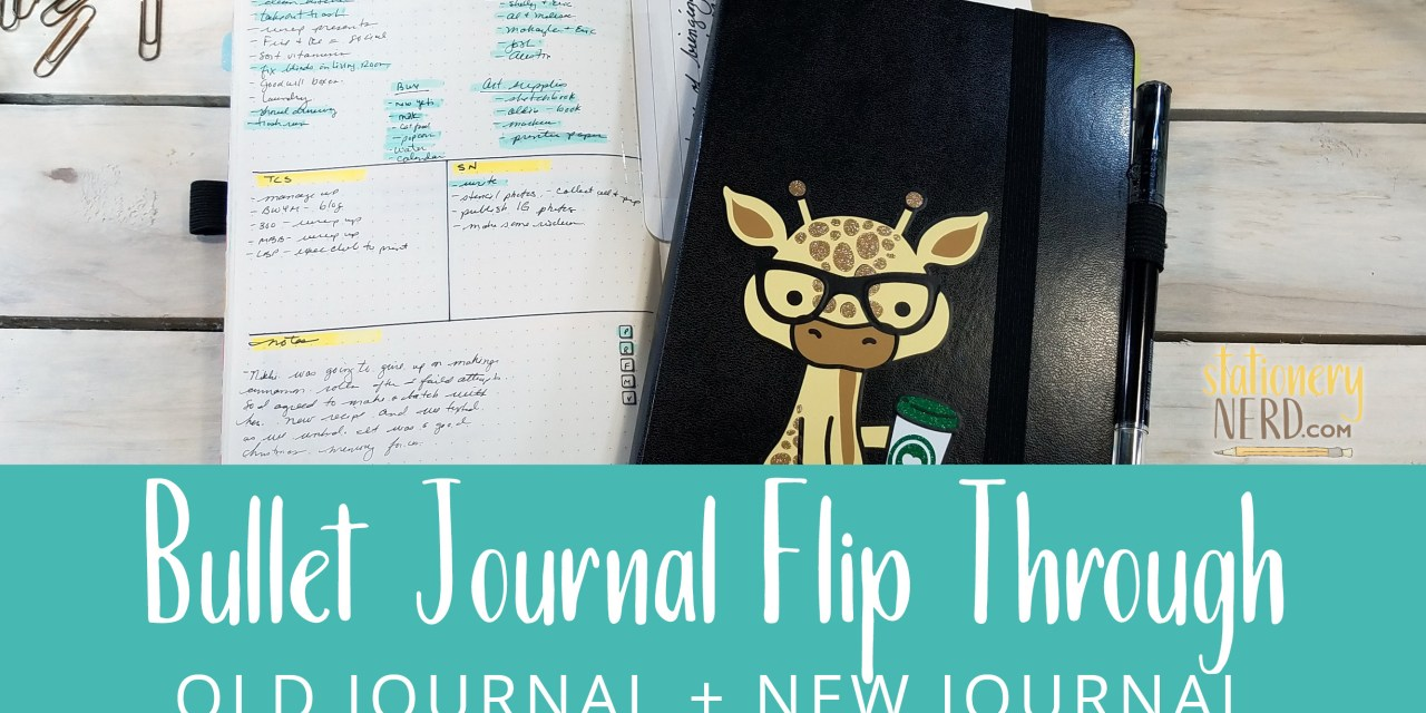 Finished Bullet Journal + New Bullet Journal Flip Through