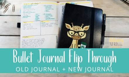 Finished Bullet Journal + New Bullet Journal Flip Through
