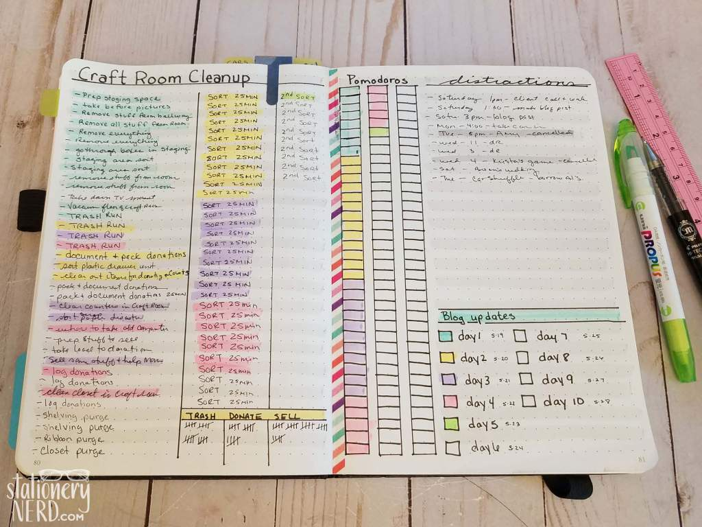 Bullet Journal Progress