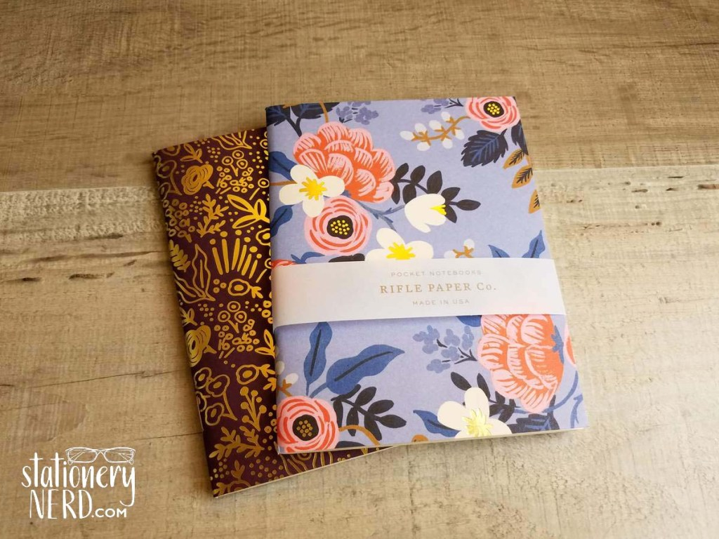 Rifle Paper Co A6 floral notebooks