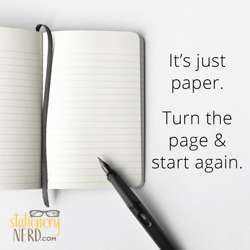 its just paper turn the page