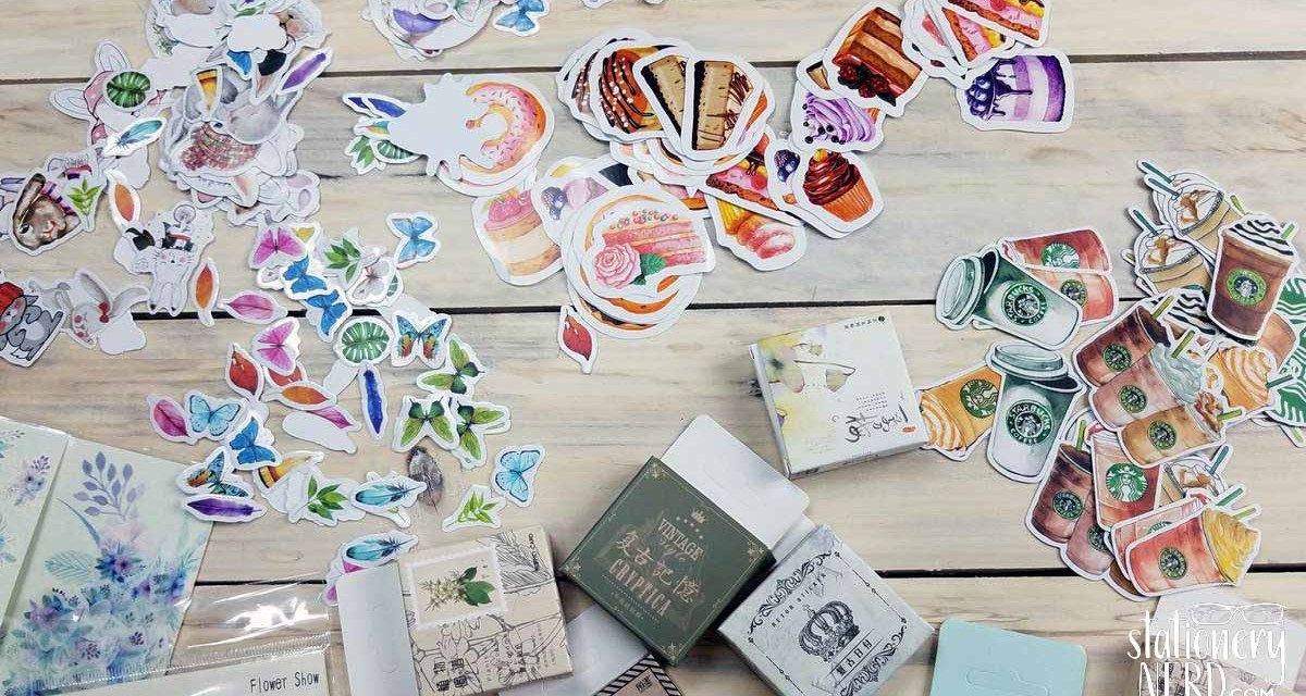 Aliexpress Sticker Haul and Organization