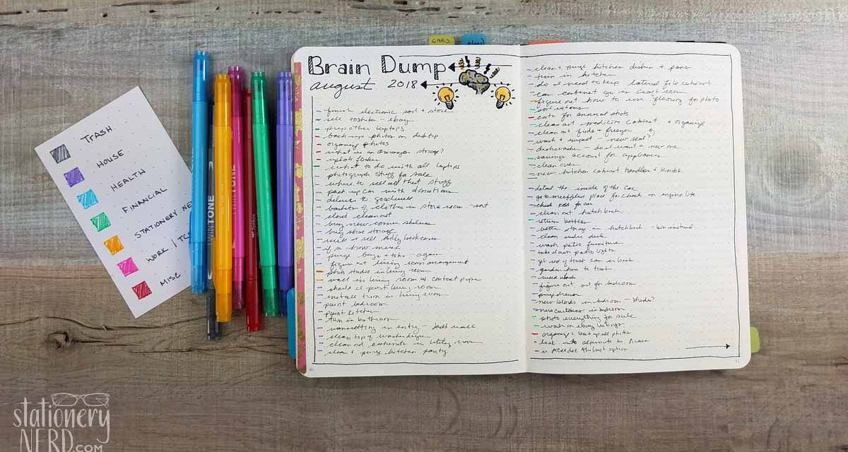 Using My Bullet Journal to do a Brain Dump