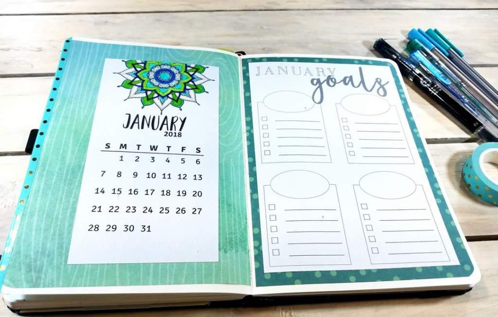 January Mandala Cover