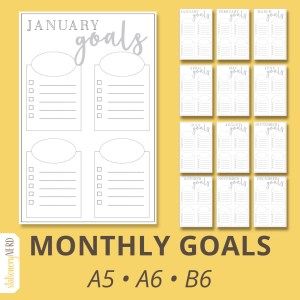 monthly goals
