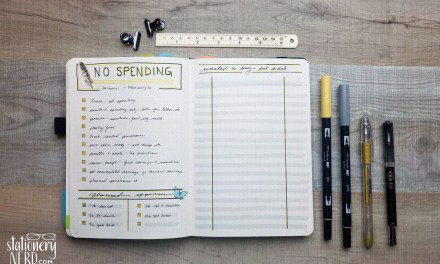 Tracking a 30 Day No Spending Challenge in my Bullet Journal