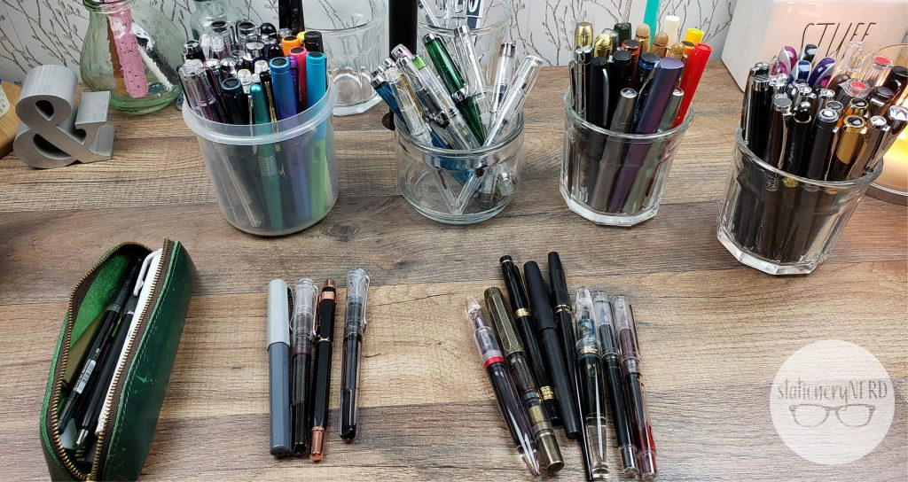Sorting all my fountain pens