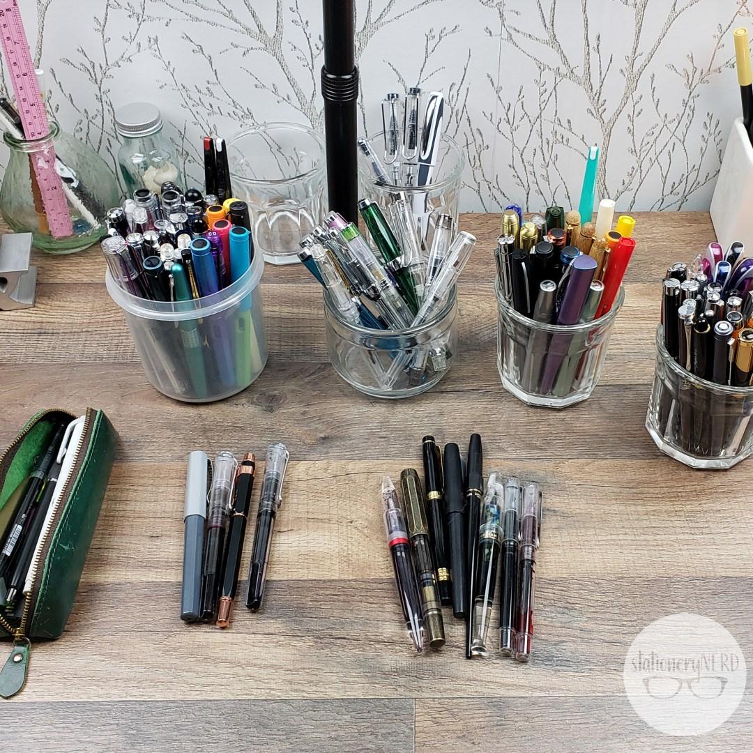 sorting fountain pens