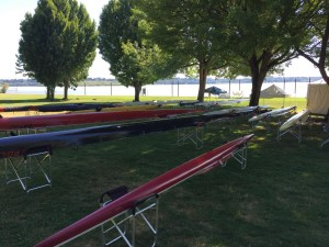 Boats Staging Area at Regionals