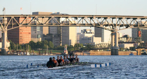 Rowing on beautiful Willamette River