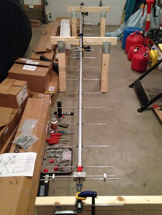 Completed 70 cm Yagi