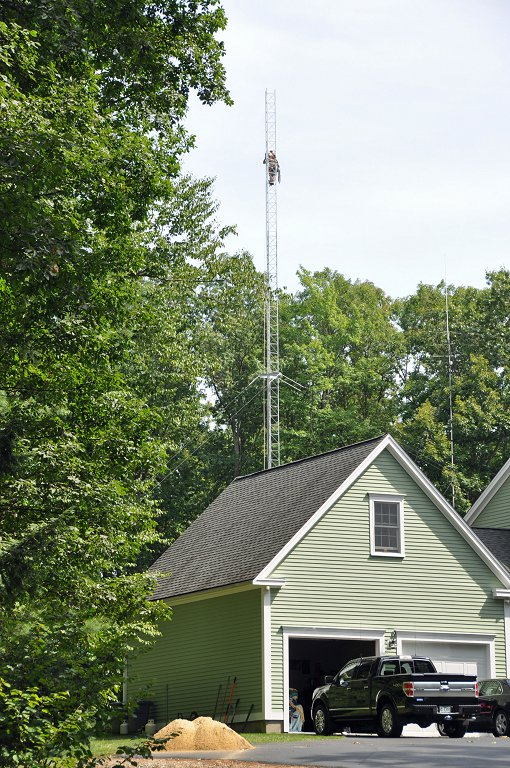 View of 90 ft Tower from Driveway