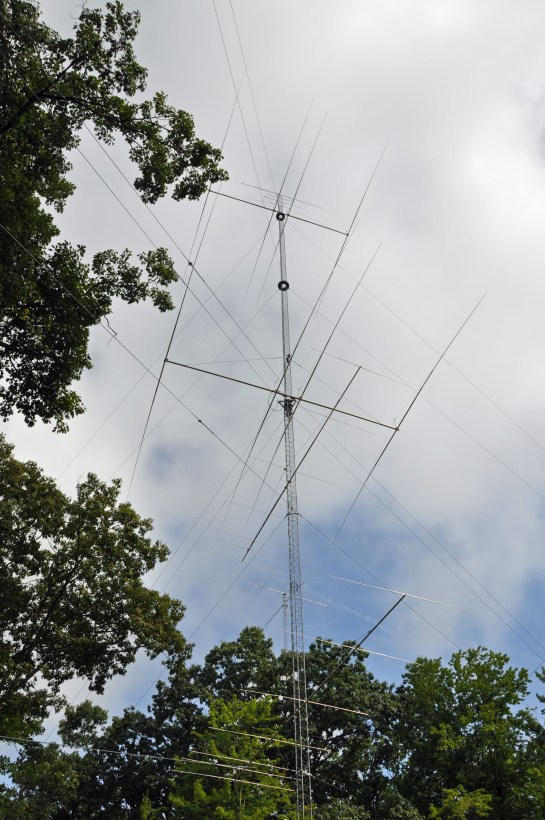 Twin 40m Beams on Rotating Tower