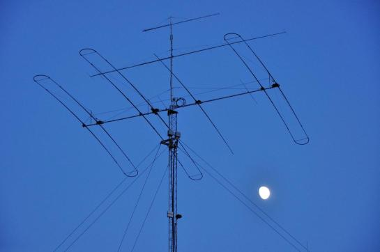 Antenna and Tower at Night