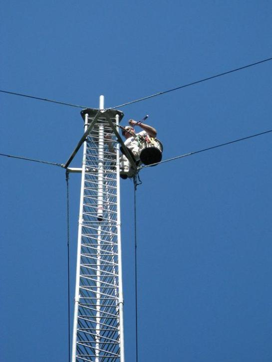 Mast Going Up The Tower