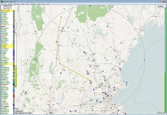 APRS Path - Northern New Hampshire