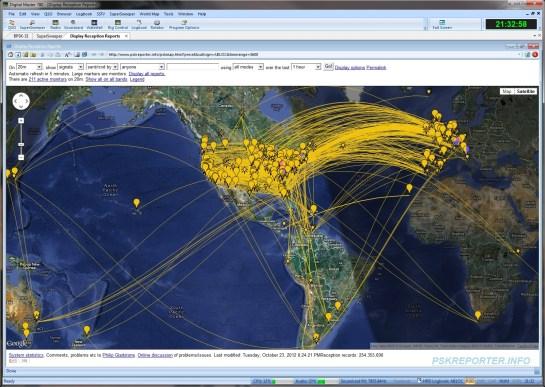 20m Worldwide Propagation (PSKReporter)