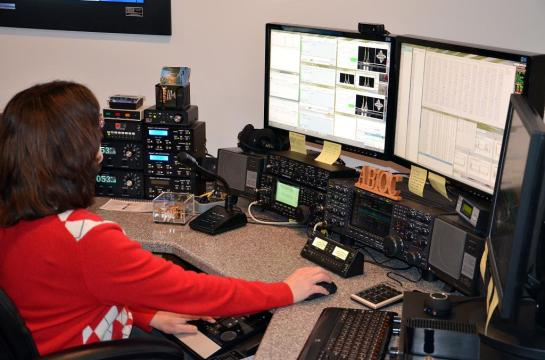 AB1QB Operating In The BARTG RTTY Contest
