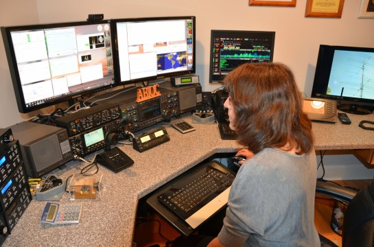 AB1QB Hard At Work During The 2013 CQ WW RTTY Contest