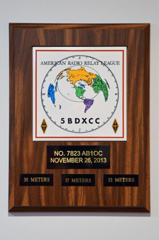 AB1OC 8 Band DXCC