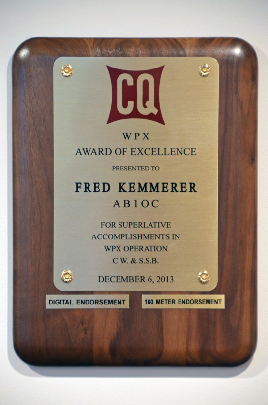 AB1OC WPX Award Of Excellence