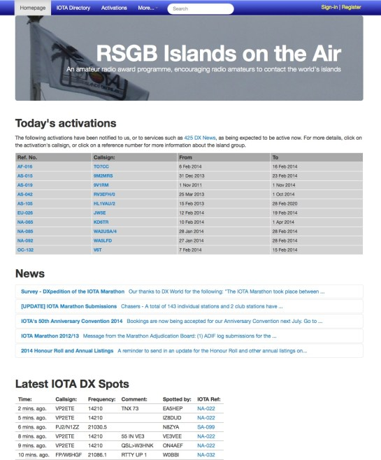 RSGB IOTA Website (courtesy www.rsgbiota.org)